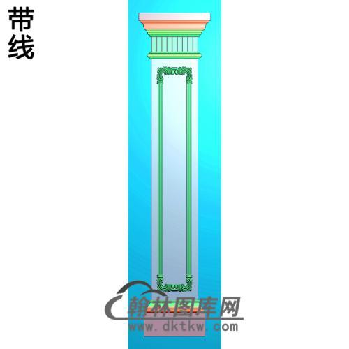柱板洋花精雕图(ZB-054)