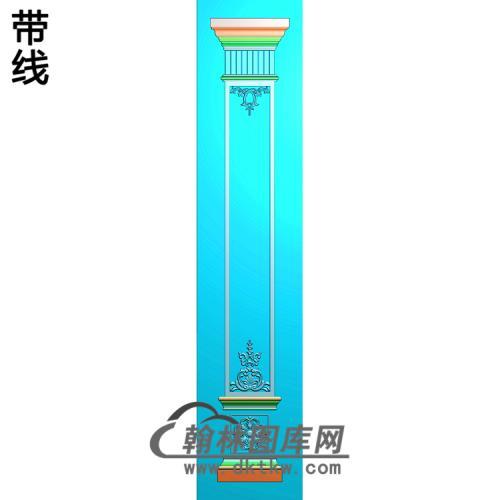 柱板洋花精雕图(ZB-055)