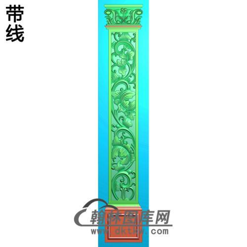 柱板洋花精雕图(ZB-056)