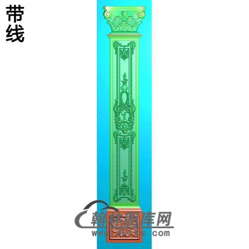 柱板洋花精雕图(ZB-057)