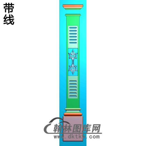 柱板洋花精雕图(ZB-058)