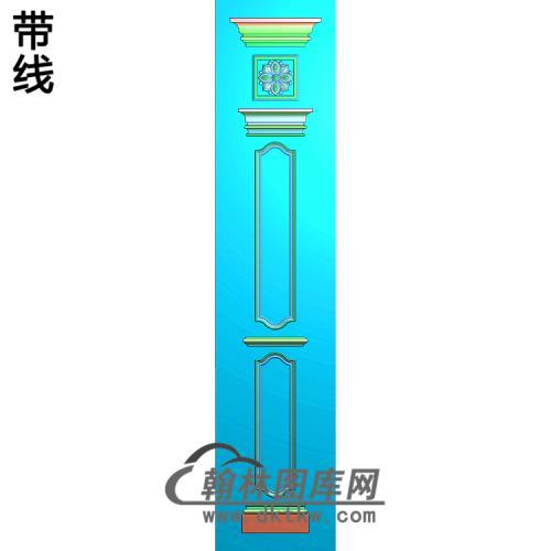柱板洋花精雕图(ZB-059)