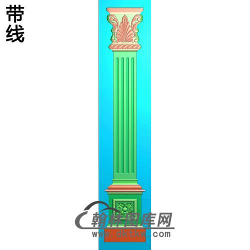 柱板洋花精雕图(ZB-062)