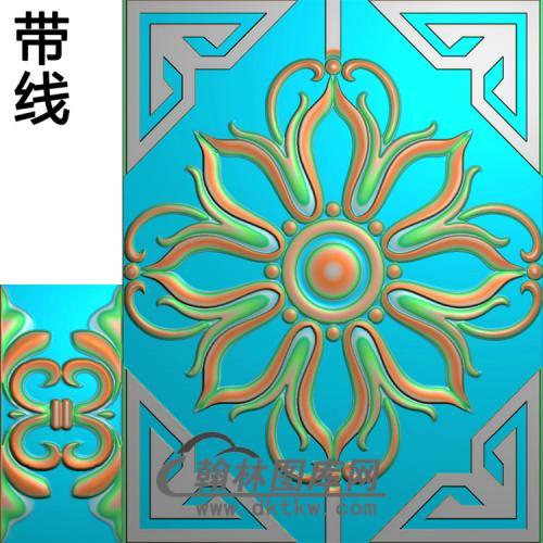 洋花铝雕精雕图(TM-334)