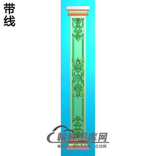 柱板洋花精雕图(ZB-064)