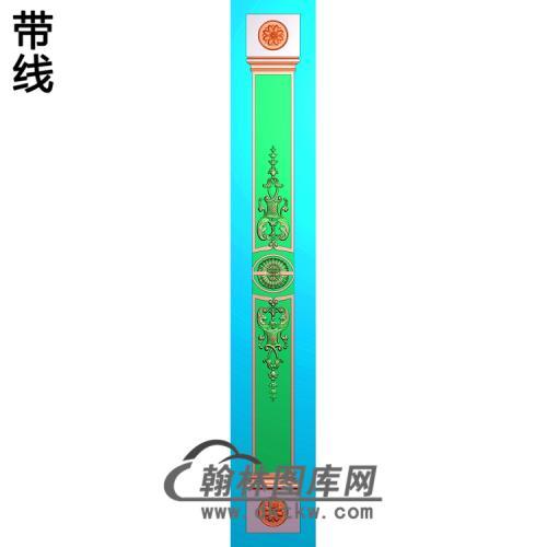 长条洋花柱板精雕图(ZB-065)