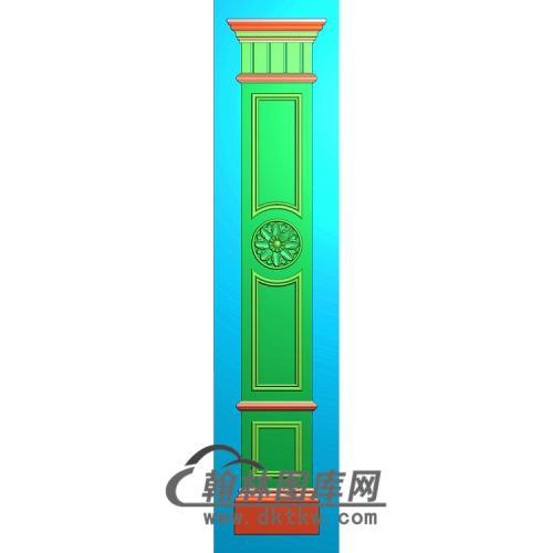 中间花柱板精雕图(ZB-069)