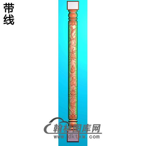 荷花柱板精雕图(ZB-072)