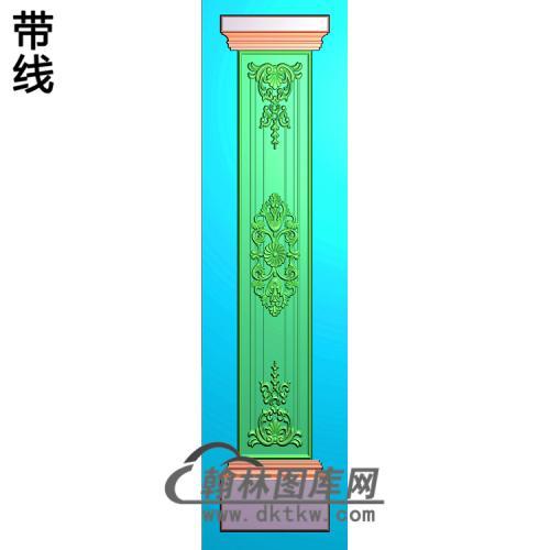 欧式洋花柱板精雕图(ZB-077)