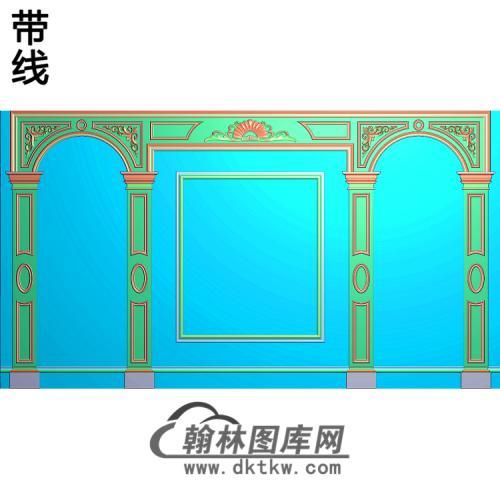 整体背景墙精雕图(BJQ-109)