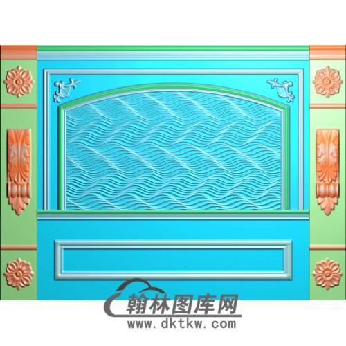 水纹整体背景墙精雕图(BJQ-147)