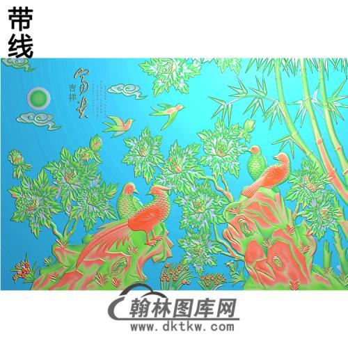 整体背景墙精雕图(BJQ-202)