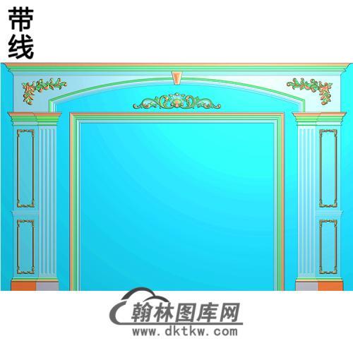 整体背景墙精雕图(BJQ-210)