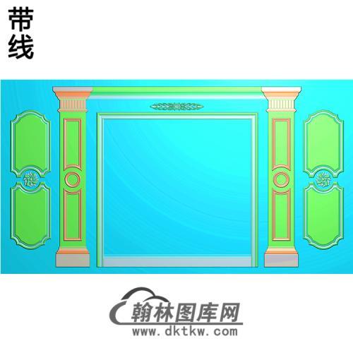 整体背景墙精雕图(BJQ-212)