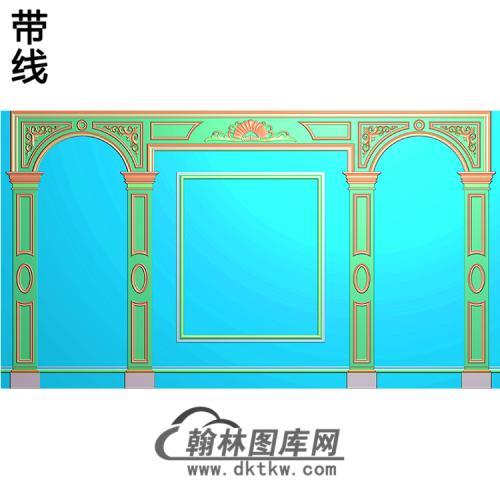 整体背景墙精雕图(BJQ-215)