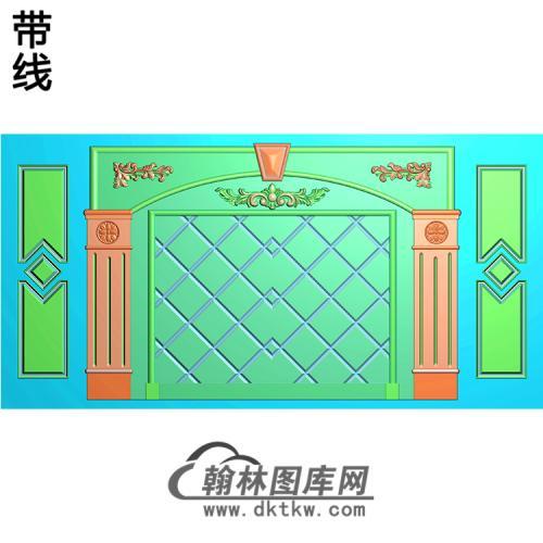整体背景墙精雕图(BJQ-217)