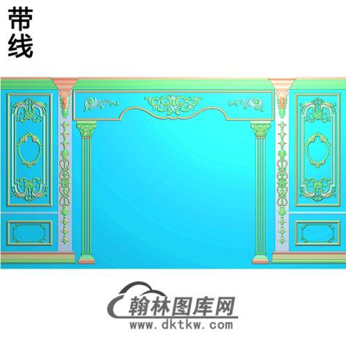 整体背景墙精雕图(BJQ-220)
