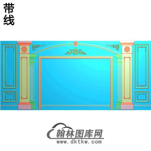 整体背景墙精雕图(BJQ-221)