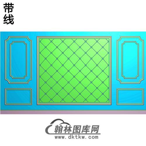 整体背景墙精雕图(BJQ-224)