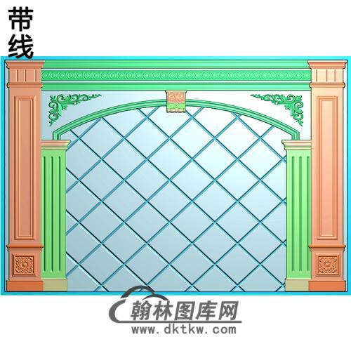 整体背景墙精雕图(BJQ-227)
