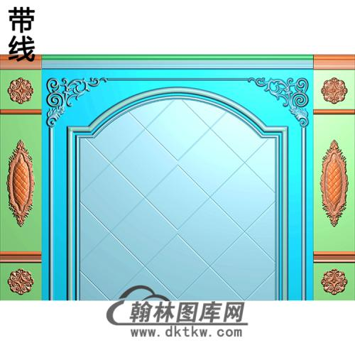 整体背景墙精雕图(BJQ-230)