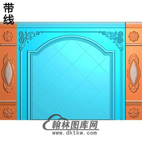 整体背景墙精雕图(BJQ-237)