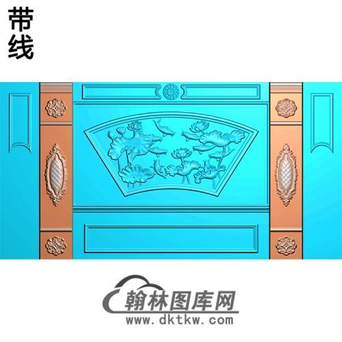 整体背景墙精雕图(BJQ-241)