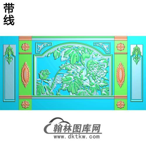 整体背景墙精雕图(BJQ-242)