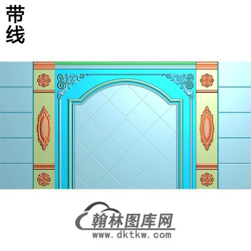 整体背景墙精雕图(BJQ-243)