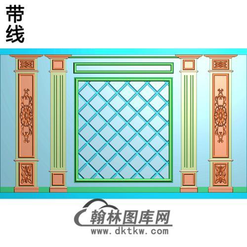 整体背景墙精雕图(BJQ-245)