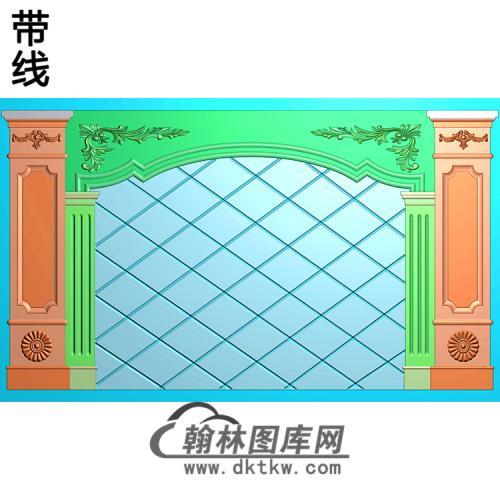 整体背景墙精雕图(BJQ-247)
