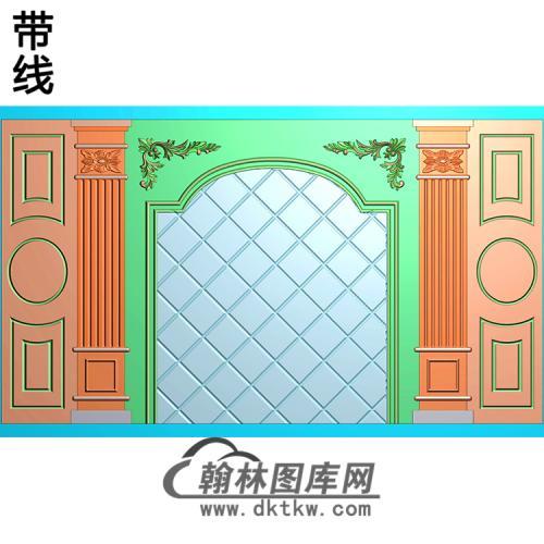 整体背景墙精雕图(BJQ-250)