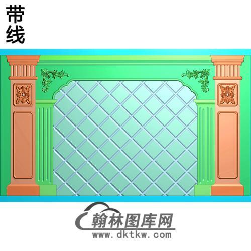 整体背景墙精雕图(BJQ-253)