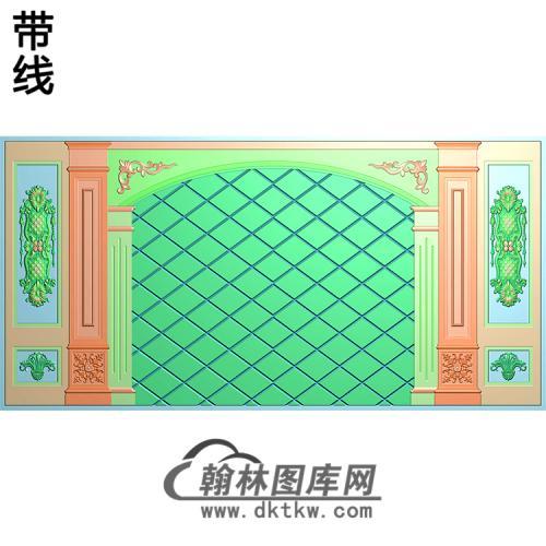 整体背景墙精雕图(BJQ-254)