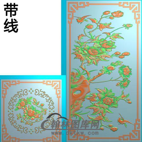 牡丹5.21铝雕精雕图(TM-405)