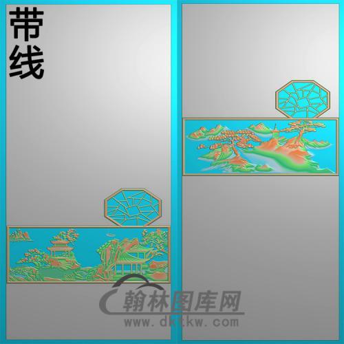 山水5.21铝雕精雕图(TM-491)