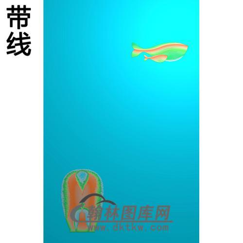 鱼5.21铝雕精雕图(TM-495)