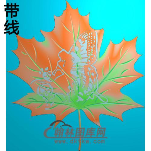 枫叶5.219l铝雕精雕图(TM-498)