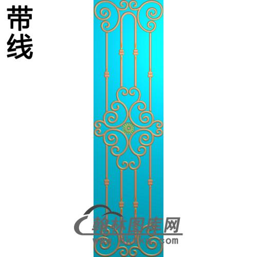 洋花5.21铝雕精雕图(TM-501)