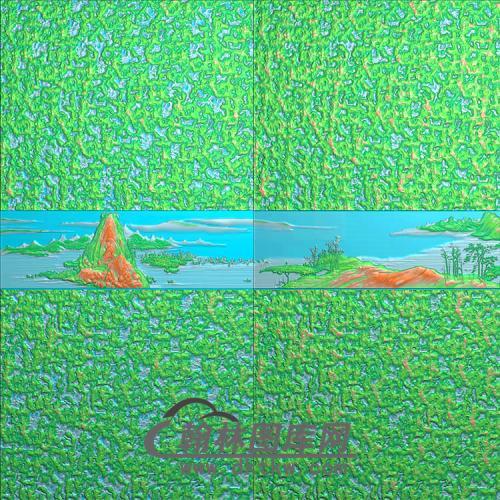 山水无线铝雕精雕图(TM-520)