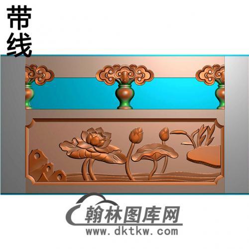 荷花石材栏板精雕图浮雕图雕刻图HL-27有线