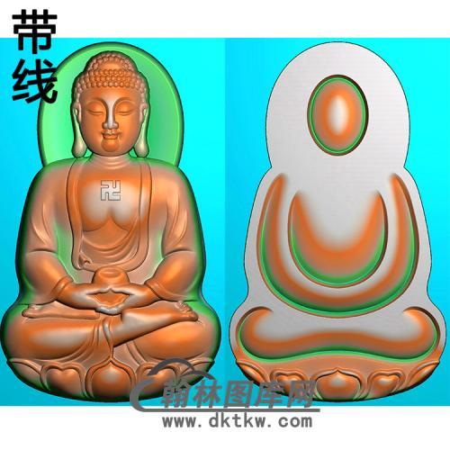 大日如来佛正反面坐姿佛像精雕图(ZFX-369)