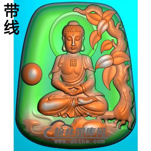 树木佛珠坐姿佛像精雕图(ZFX-372)