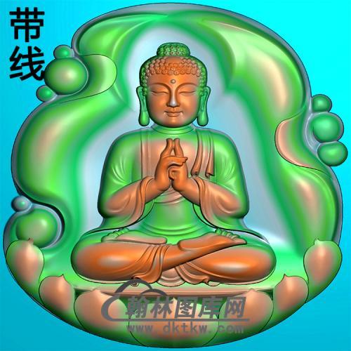 坐姿佛像精雕图(ZFX-375)