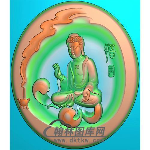 香炉拜佛坐姿佛像精雕图(ZFX-379)