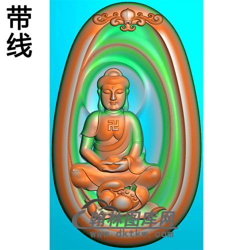 荷花坐姿佛像精雕图(ZFX-382)