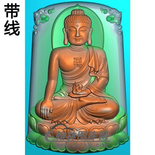 坐姿佛像精雕图(ZFX-388)