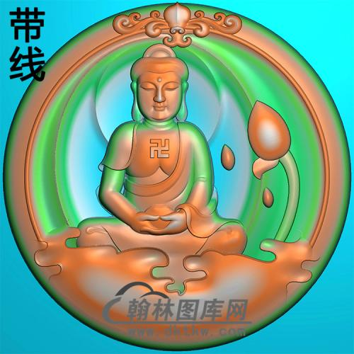 宝瓶坐姿佛像精雕图(ZFX-390)
