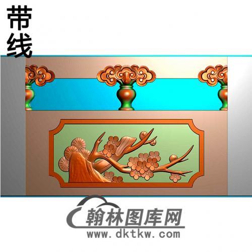 梅花石材栏板精雕图浮雕图雕刻图HL-44有线