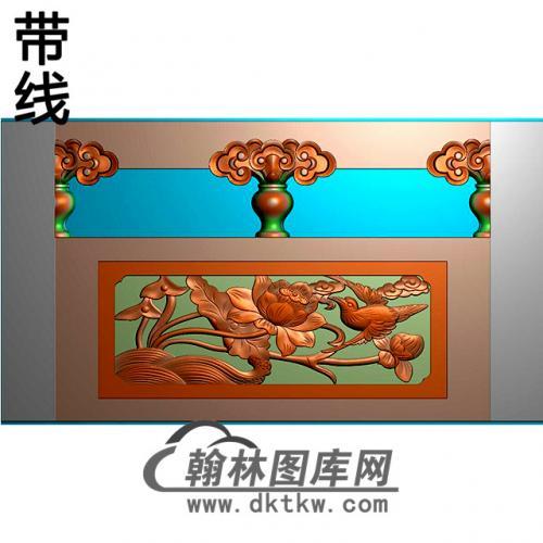 花鸟石材栏板精雕图浮雕图雕刻图HL-48有线
